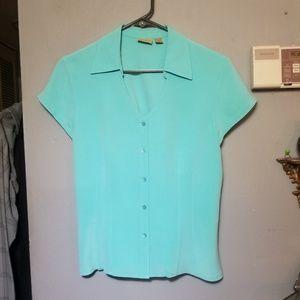 Caslon 100%Silk Button up Blouse